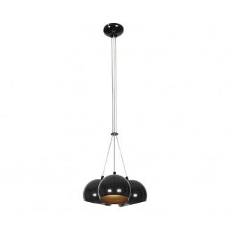 NOWODVORSKI 6587 | Ball Nowodvorski függeszték lámpa 3x GU10 fekete, arany