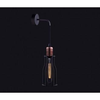 NOWODVORSKI 6605 | Workshop Nowodvorski falikar lámpa 1x E27 fekete, vörösréz
