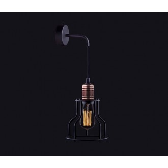 NOWODVORSKI 6606 | Workshop Nowodvorski falikar lámpa 1x E27 fekete, vörösréz