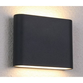NOWODVORSKI 6775 | Semi Nowodvorski fali lámpa 36x LED 242lm 3000K IP54 fekete