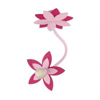 NOWODVORSKI 6893 | Flowers Nowodvorski fali, mennyezeti lámpa flexibilis 1x GU10 rózsaszín, piros