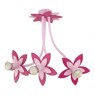 NOWODVORSKI 6894 | Flowers Nowodvorski fali, mennyezeti lámpa flexibilis 3x GU10 rózsaszín, rózsaszín