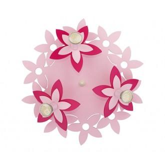 NOWODVORSKI 6895 | Flowers Nowodvorski fali, mennyezeti lámpa 3x GU10 rózsaszín, piros