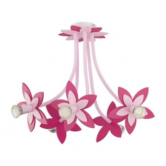 NOWODVORSKI 6896 | Flowers Nowodvorski mennyezeti lámpa flexibilis 5x GU10 rózsaszín, magenta