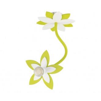 NOWODVORSKI 6897 | Flowers Nowodvorski fali, mennyezeti lámpa flexibilis 1x GU10 zöld, fehér