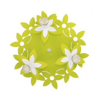 NOWODVORSKI 6900 | Flowers Nowodvorski fali, mennyezeti lámpa 3x GU10 zöld, fehér