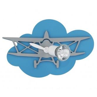 NOWODVORSKI 6902 | Plane Nowodvorski fali, mennyezeti lámpa elforgatható alkatrészek 1x GU10 kék, szürke, fehér