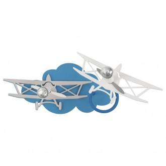 NOWODVORSKI 6903 | Plane Nowodvorski fali, mennyezeti lámpa elforgatható alkatrészek 2x GU10 kék, szürke, fehér