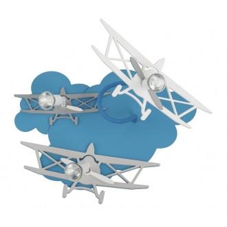 NOWODVORSKI 6904 | Plane Nowodvorski fali, mennyezeti lámpa elforgatható alkatrészek 3x GU10 kék, szürke, fehér