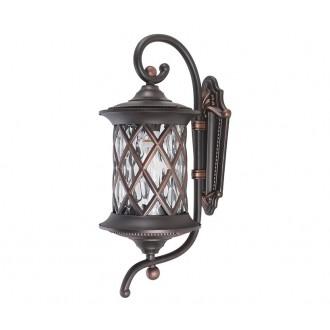 NOWODVORSKI 6911 | Lantern Nowodvorski falikar lámpa 1x E27 IP23 sötétszürke, áttetsző