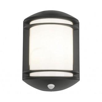 NOWODVORSKI 7016 | Quartz Nowodvorski fali lámpa mozgásérzékelő 1x E27 IP21 fekete, fehér