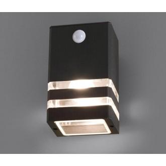 NOWODVORSKI 7017 | Rio Nowodvorski fali lámpa mozgásérzékelő 1x E27 IP54 fekete, átlátszó
