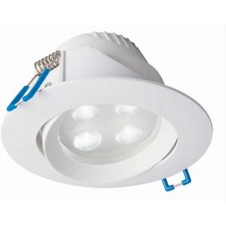 NOWODVORSKI 8988 | Eol Nowodvorski beépíthető lámpa billenthető Ø102mm 1x LED 265lm 3000K IP44 fehér