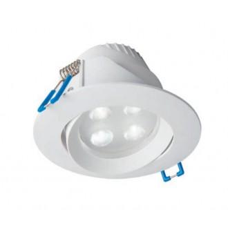NOWODVORSKI 8990 | Eol Nowodvorski beépíthető lámpa billenthető Ø102mm 1x LED 265lm 4000K IP44 fehér