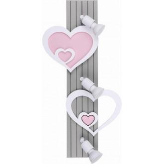 NOWODVORSKI 9063 | Heart-NW Nowodvorski fali lámpa elforgatható alkatrészek 3x GU10 szürke, fehér, rózsaszín