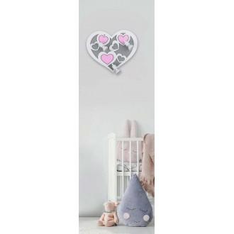 NOWODVORSKI 9064 | Heart-NW Nowodvorski fali lámpa elforgatható alkatrészek 3x GU10 szürke, fehér, rózsaszín