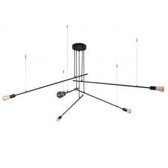 NOWODVORSKI 9127 | Pile Nowodvorski csillár lámpa 5x E27 fekete