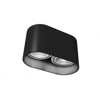 NOWODVORSKI 9240 | OvalN Nowodvorski mennyezeti lámpa 2x GU10 / ES111 fekete