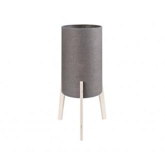 NOWODVORSKI 9366 | Neo Nowodvorski asztali lámpa 43,5cm vezeték kapcsoló 1x E27 szürke, fa.