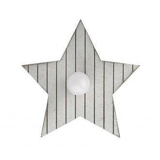 NOWODVORSKI 9376 | Toy-star Nowodvorski fali, mennyezeti lámpa 1x E14 szürke