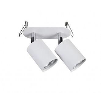 NOWODVORSKI 9395 | Eye-Fit Nowodvorski beépíthető lámpa elforgatható alkatrészek 55x155mm 2x GU10 fehér