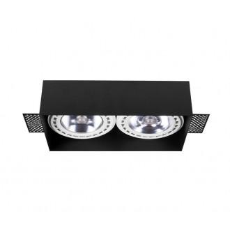 NOWODVORSKI 9403 | Mod-Plus Nowodvorski beépíthető - mélysugárzó lámpa 230x116mm 2x GU10 / ES111 fekete