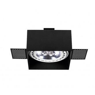 NOWODVORSKI 9404 | Mod-Plus Nowodvorski beépíthető - mélysugárzó lámpa 116x116mm 1x GU10 / ES111 fekete