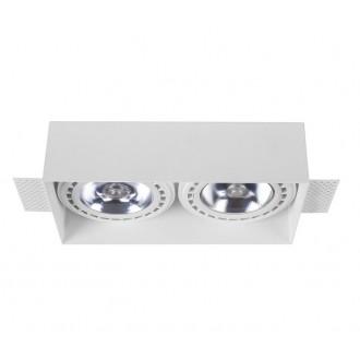 NOWODVORSKI 9407 | Mod-Plus Nowodvorski beépíthető - mélysugárzó lámpa 230x116mm 2x GU10 / ES111 fehér