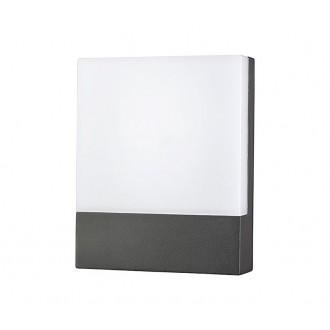 NOWODVORSKI 9422 | Flat Nowodvorski fali lámpa 1x LED 350lm 3000K IP54 grafit, fehér