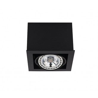 NOWODVORSKI 9495 | BoxN Nowodvorski mennyezeti lámpa elforgatható fényforrás 1x GU10 / ES111 fekete