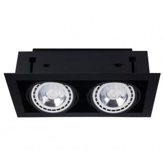 NOWODVORSKI 9570 | Downlight Nowodvorski beépíthető - mélysugárzó lámpa elforgatható fényforrás 190x354mm 2x GU10 / ES111 fekete