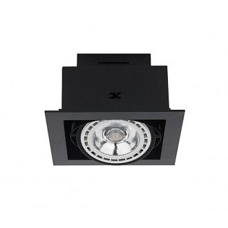 NOWODVORSKI 9571 | Downlight Nowodvorski beépíthető - mélysugárzó lámpa elforgatható fényforrás 190x190mm 1x GU10 / ES111 szürke