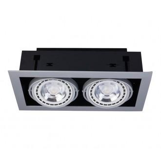 NOWODVORSKI 9572 | Downlight Nowodvorski beépíthető - mélysugárzó lámpa elforgatható fényforrás 190x354mm 2x GU10 / ES111 fehér