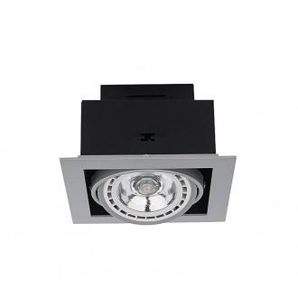NOWODVORSKI 9573 | Downlight Nowodvorski beépíthető - mélysugárzó lámpa elforgatható fényforrás 190x190mm 1x GU10 / ES111 szürke