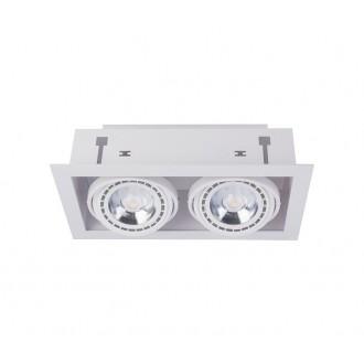 NOWODVORSKI 9574 | Downlight Nowodvorski beépíthető - mélysugárzó lámpa elforgatható fényforrás 190x354mm 2x GU10 / ES111 fehér