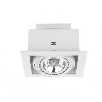 NOWODVORSKI 9575 | Downlight Nowodvorski beépíthető - mélysugárzó lámpa elforgatható fényforrás 190x190mm 1x GU10 / ES111 fehér
