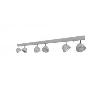 NOWODVORSKI 9591 | Vespa Nowodvorski fali, mennyezeti lámpa elforgatható alkatrészek 6x GU10 / ES111 ezüst