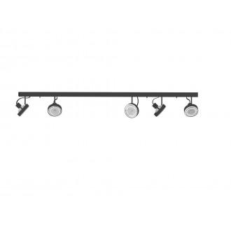 NOWODVORSKI 9600 | Cross Nowodvorski fali, mennyezeti lámpa elforgatható alkatrészek 5x GU10 / ES111 grafit, fehér