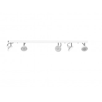 NOWODVORSKI 9604 | Cross Nowodvorski fali, mennyezeti lámpa elforgatható alkatrészek 5x GU10 / ES111 fehér, grafit