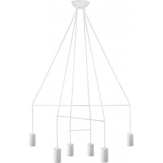 NOWODVORSKI 9676 | Imbria Nowodvorski függeszték lámpa 6x GU10 fehér