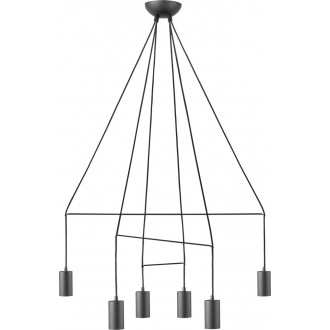 NOWODVORSKI 9677 | Imbria Nowodvorski függeszték lámpa 6x GU10 fekete
