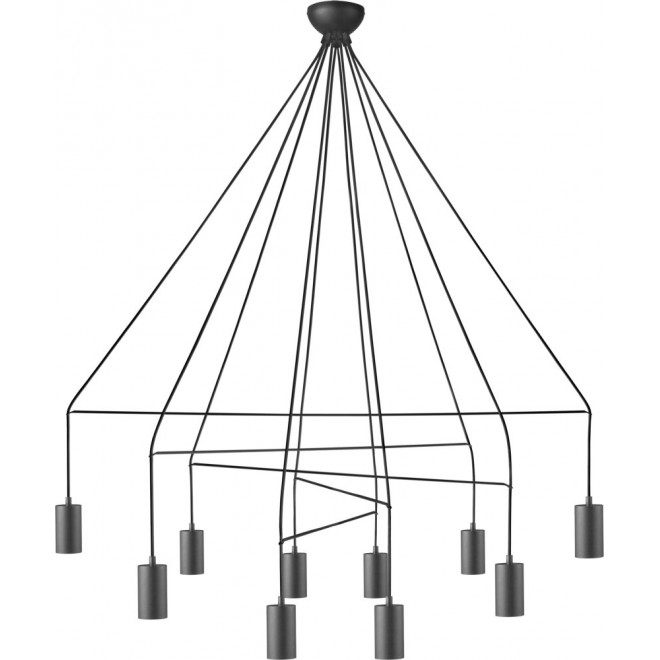 NOWODVORSKI 9680   Imbria Nowodvorski függeszték lámpa 10x GU10 fekete