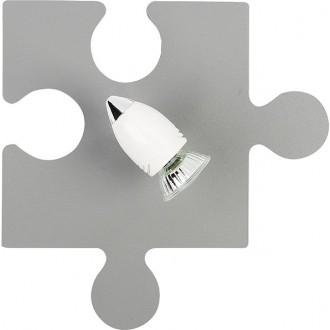 NOWODVORSKI 9730 | Puzzle Nowodvorski fali, mennyezeti lámpa elforgatható alkatrészek 1x GU10 szürke, fehér, króm