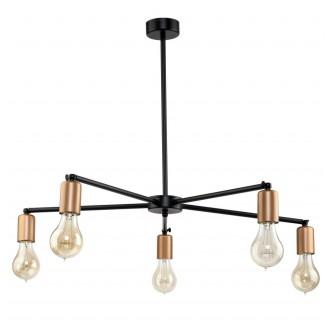 NOWODVORSKI 9735 | Sticks Nowodvorski csillár lámpa elforgatható alkatrészek 5x E27 fekete, vörösréz