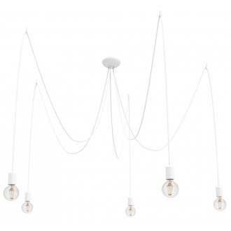 NOWODVORSKI 9744 | Spider Nowodvorski függeszték lámpa 5x E27 fehér