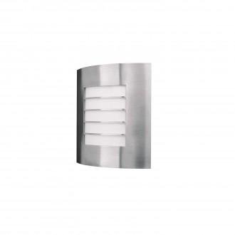 PHILIPS 01726/01/47 | Oslo Philips fali lámpa 1x E27 IP44 inox, fehér