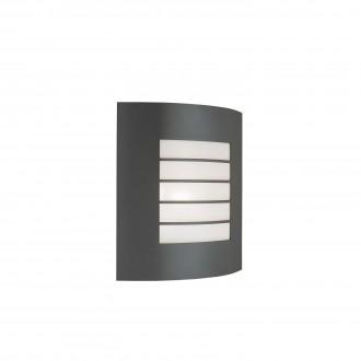 PHILIPS 01726/01/93 | Oslo Philips fali lámpa 1x E27 IP44 sötét szürke, fehér