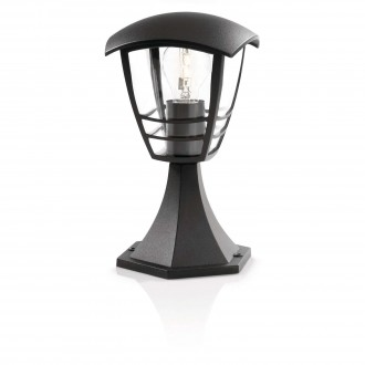 PHILIPS 15382/30/16 | CreekP Philips álló lámpa 30cm 1x E27 IP44 fekete