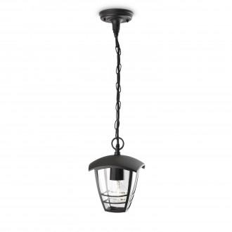 PHILIPS 15386/30/16 | CreekP Philips függeszték lámpa 1x E27 IP44 fekete