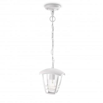 PHILIPS 15386/31/16 | CreekP Philips függeszték lámpa 1x E27 IP44 fehér